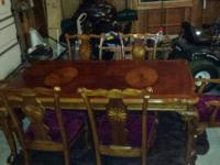 ASHLEY DINING ROOM TABLE WITH 6 VERY STURDY CHAIRS