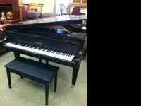 BEAUTIFUL K.KAWAI BLACK BABY GRAND PIANO, WITH BULT IN