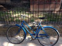 I sell my beautiful Blue retro bike At the end of