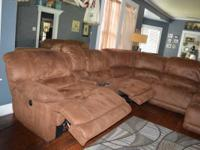 Coffee bean colored sectional(suede like cloth),