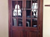 For sale: Beautiful Craftique mahogany corner cabinet
