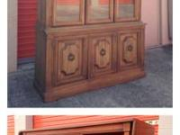 Very good china cabinet and drop side server by Stanley