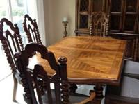 GORGEOUS DINNING ROOM TABLE WITH (2) CHAIRS - TWO OF