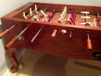 Regulation Size Foosball Table, Tiffany style legs,