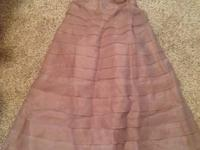 Very pretty and elegant light brown dress. Size 6. Worn