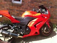 Red, 08 ninja 250. The frame has about 18000 miles on