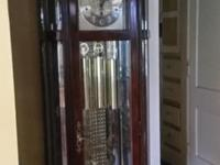 This stunning grandfather clock belonged to my dad. It