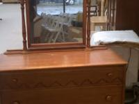 I have for sale this beautiful rock maple dresser with