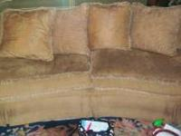 Beautiful tan/beige couch and chair, great