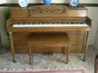 Gorgeous Wurltzer Spinet Piano. The piano has has been