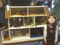 This sturdy, exceptionally well built doll house is the