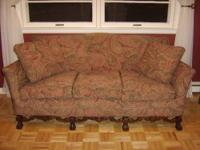 Beautifully restored small-mid sized couch (larger than