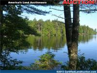 A waterfront land auction is scheduled for home sites