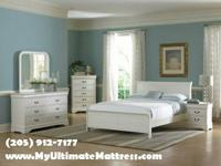 Included: Full or Queen size White sleigh bed, 2