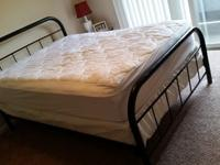 Regular size mattress, box spring and black painted