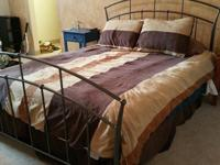 Just about BRAND NEW metal bedframe &