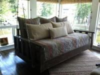 Twin size bed swing 42 x 82. For a bedroom, pool house