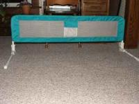 BED GUARD RAIL FOR CHILD OR ADULT. THERE ARE NO HOLES