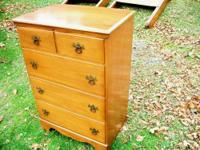 Really nice and clean chest of drawers, and two twin