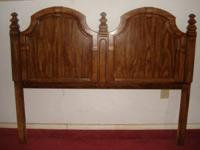 Queen head board and queen metal bed frame Tall cabinet