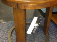 Huge Floor Model Sale:  Faux Marble and Wood Table with