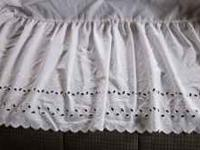 Full Size Bed Skirt White Eyelet, very nice, clean,