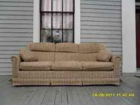 Sofa with Pull Out Bed: $125 or best offer. Please call