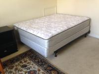Sealy Queen sized Lake Mohave bed with box springs and