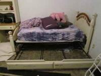 White bed frames pretty good condition. Please call or