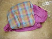 This is a Thai Silk Duvet custom made. Pink plaid duvet