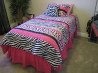 PINK AND PRETTY The bedding was used as staging in
