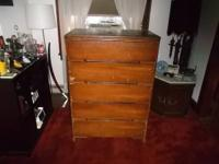 i am offering an older wood bedroom dresser, year and