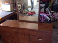 Two piece dresser set with mirror.  $75 or best offer.