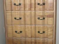 2 French Provincial Vintage All WOOD Dressers / Tall