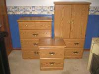 Items for Sale: 3 piece Bedroom Set Armoir, Dresser,