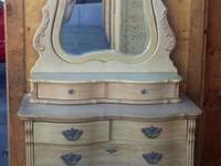 Bedroom furniture, beautiful condition. Antique Ivory