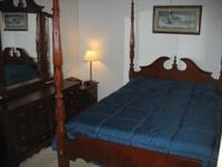 Nice Queen Ann bedroom set. Not sure if its Mahogany or