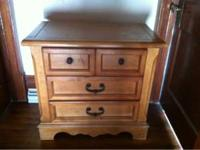 I have a 3 piece furniture set, good condition. Mirror,