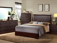 Espresso Bedroom with luggage fronts, rounded corners,