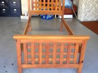 Stanley, solid wood Twin bed with lattice headboard &