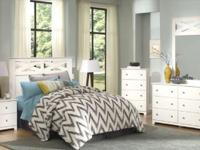 White bedroom set Dresser, Mirror ,nightstand,chest and