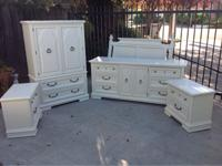Beautiful made in the USA bedroom set featuring a 9