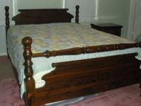 I am selling the following dark pine bedroom