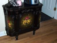 Beautiful bedroom side table with cabinet / doors for