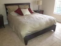 Ethan Allen Queen Size Bedroom Suit in rich, mahogany