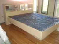 Very nice beige comtemporary complete bed roon suit,