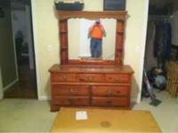Matching dresser, night stand, and chest for sale. I do