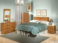 HEADBOARD, DRESSER, MIRROR & NIGHT STAND 4 COLORS
