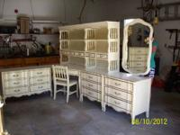 This is a large bedroom set, 13 pieces, white, french