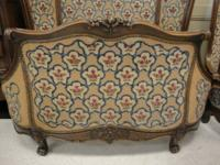 Antique French Carved Oak  Beds very unusal with